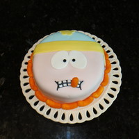 Cartman Cake All Fondant Including Cheesy Puffs Cartman Cake- all fondant, including cheesy puffs.