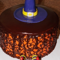 Cake That Fell On Top Of Witch Chocolate scroll and chocolate ganache