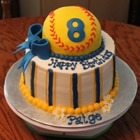 Softball Birthday Cake Softball Birthday Cake