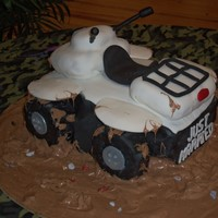 4 Wheeler Grooms Cake   Grooms cake for a 4 wheeler mud enthusiast. It was a REAL pain!