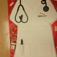 Nurse Graduation Fondant covered carved cake with fondant accents