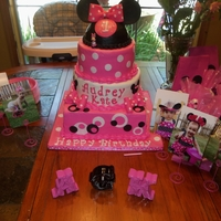 Minnie Mouse   Mostly buttercream with fondant accents