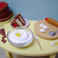 Jelly Belly Baker  This is one of my entries in the Jelly Belly Cupcake Challenge. The chocolate cake is a standard size cupcake and a mini cupcake is in the...