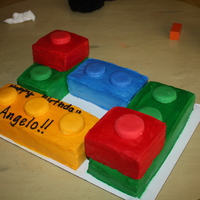 Lego Cake Done With Bc And Buttons Are Fondant Lego Cake done with BC and buttons are fondant.