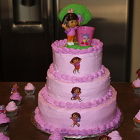 Dora Birthday Cake MADE WITH WHIPPED CREAM FROSTING