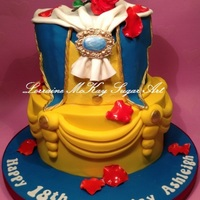 Beauty And The Beast Theme Without The Characters To Prove It I Was Inspired By The Many Wedding Cakes That I See With The Brides Gown Be  Beauty and the Beast theme without the characters to prove it! I was inspired by the many wedding cakes that I see with the bride's...