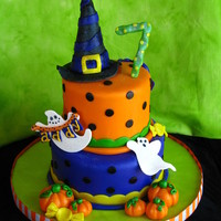 Halloween Birthday Cake! This was made for my niece for her Halloween-themed birthday party :) TFL!
