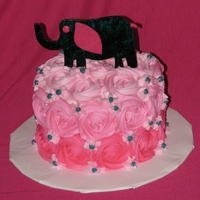 Rosettes Cake for a baby shower, baby's room was decorated in elephants. TFL!