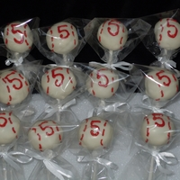 Baseball Cakepops! Baseball cakepops for a little guy's 5th birthday party :D