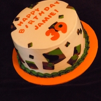 Camo Birthday Cake Cake for a guy turning 39, loves to fish and hunt. TFL :D