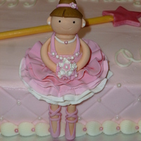 Buttercream With Gum Paste Ballerina And Wand   Buttercream with gum paste ballerina and wand.