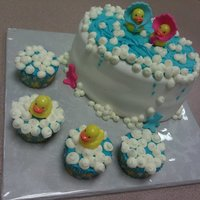 It's A Boy! It's A Girl!! Made this for a friend at work who's 2 duaghters were each having a baby... lemon WASC with strawberry filling