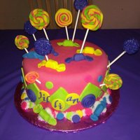 Old School Candy Made this for my niece, she loves the daylong lolli's and candy so made those out of MMF.