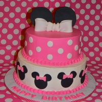 Minnie Mouse Pink And White ice din BC with fondant