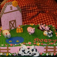Barnyard bc icing with gumpaste/fondant accents