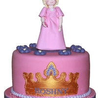 "Princess A princess handmade figure on top of a 8"" cakeThe crown is made from a Patchwork cutter set."