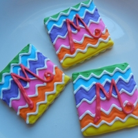 Multicolor Chevron Cookies My first attempt at this pattern/design.