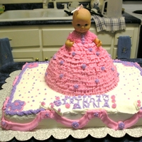 Baby Doll Birthday Cake   I made this cake for a little girl's 4th birthday.