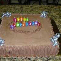 Veeery Simple Bday Cake W/ Nutella Frosting