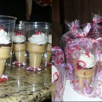 Valentine Cupcakes In A Cone Goodies for daycare and work, ewveryone loved the Idea. Thanks nefgaby for the idea!
