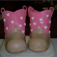 Cowgirl Boots Fondant/Gum Paste cowgirl boots for the top of the baby shower cake