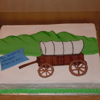 Oregon Trail Cake. This was done for my sons end of the year party for school. They had been studying the Oregon Trail in class.