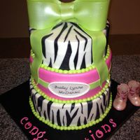 This Is The First Cake Ive Decorated In Over A Year And Im Pretty Proud Of It Its For My Cousins Baby Shower Thats Zebrapinkgreen Pri This is the first cake I've decorated in over a year and I'm pretty proud of it. It's for my cousins baby shower that's...