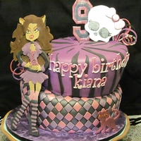 Monster High Birthday Cake Made for a 9-year-olds who is obessed with Monster High...I heard she cried when she seen it!