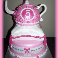 Princess Pillow Teapot Princess theme, Has large crowns on side(gumpaste)All fondant and gumpaste.Thanks for looking!