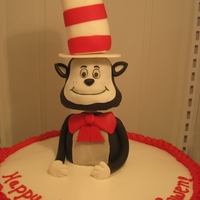 Cat In The Hat Cat in the hat is molded out of rice cereal dipped in white chocolate for strength. The pieces were covered in fondant and held together...