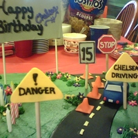 Driver's Training! Fun Cake! I made this when my neice was learning to drive:)
