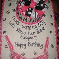 50Th Birthday Cake I made this cake for my sister's 50th birthday.