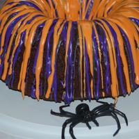 Simply Halloween   Chocolate/vanilla cake, with colors added.