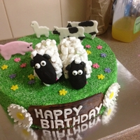 "Farm Animals For my nephew's party which featured a petting zoo. The sheep idea came from the Hello Cupcake people newest book - ""Cupcake,..."
