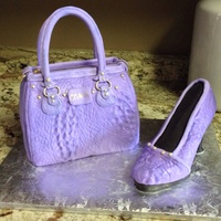Coach Alligator Purse And Shoe Coach alligator purse and shoe