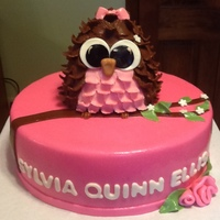 Pink Baby Shower Owl Cake used Alysia1982 idea thank you for your creativity. The owl is RKT covered in fondant.