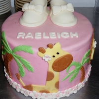Jungle Theme fondant shoes and cake.