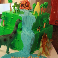Dinosaur My son wanted a dinosaur cake for his 8th birthday so this was an easy design that allowed him to help me make it. He took care of the &...