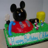 "Mickey's Clubhouse Thanks to all those I have studied around here, I can't believe I actually pulled this off. The ""house"" was really too big..."