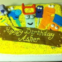 Handy Birthday #3 My son wanted a Handy Manny Birthday Party cake so this is what I came up with.