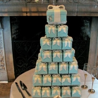 Tiffany Box Mini Wedding Cakes