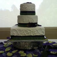 Purple And Green Stack With Calla Lilly