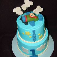 Flying High   Buttercream with fondant accents.