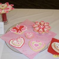 Valentine Cookies - Az Cake Show Entry Sugar cookies with royal icing decor. They were the Best Non-Cake entry in the Intermediate division at the AZ Cake and Sugar Arts Show.