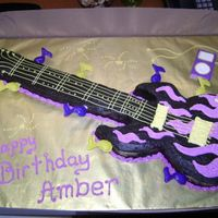 Purple Flame Guitar W/chocolate Ipod Made this weekend for a 12 yr. old girl. She loves music and got a real electric guitar for her birthday. Single layer triple chocolate...