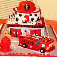 Fireman Brady Made this for my grandson. His dad is a fireman. The brown dog is their dog Buck. Had so much fun.