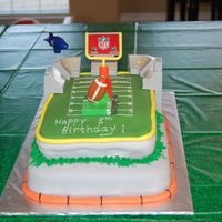 Football Cake I MADE THIS FOR MY SON'S 8TH BIRTHDAY!! IT WAS A HIT AND A BLAST TO MAKE!!