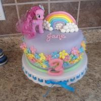My Little Pony, Rainbow, Purple, Pink, Flowers *