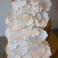 Cake I Did For A Style Shoot I Am Participating In Gold 3 Tiered Fondant Cake With Gumpaste Flower And Petals Cake I did for a style shoot I am participating in! Gold 3 tiered fondant cake with gumpaste flower and petals....