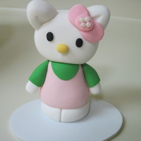 Hello Kitty This cake was a lot of fun. I made the body first.Then I made the head let it dry for a few hours and applied it to the dry body. The feet...